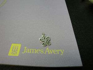 JAMES AVERY RETIRED Small BUTTERFLY CHARM Sterling S
