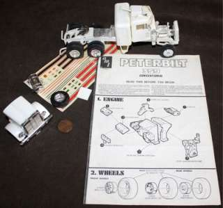 peterbilt 359 conventional model kit hard to find vintage kit made by