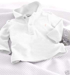 AUTH RALPH LAUREN BABY GIRL LONG SLEEVE POLO TOP 3 MTH