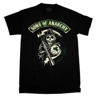 Sons Of Anarchy Reaper Ireland Irish SOA TV Show T Shirt Tee