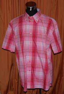 TOMMY HILFIGER PINK RED BLUE WHITE OXFORD SHIRT MENS XL