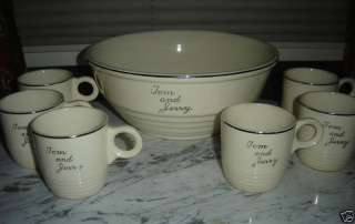 UNIVERSAL POTTERIES CAMBRIDGE TOM & JERRY SET ~ 1940S