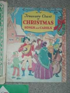 Lot of 5 Vintage 1930s 1950s Christmas Carol Song Books