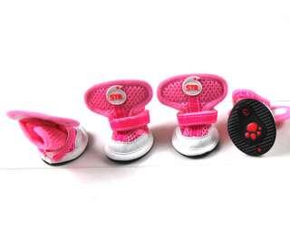 Mesh Breathable Dog Puppy Pet Velcro Shoe Boots AnySize