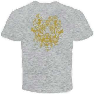Tiger Vintege Gold Tattoo animal T Shirt MMA UFC