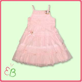 Girls Spring/Summer Kate Mack Pink Lace Tiered Dress