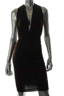 FAMOUS CATALOG Moda Brown Cocktail Dress Convertible Ruched S