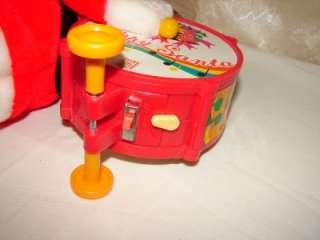 Christmas Musical Santa Claus Happy Santa Playing Drums NIB