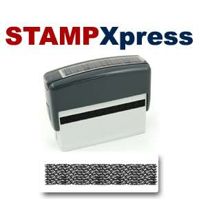 IDENTITY THEFT SECURE STAMP Black Self Ink Rubber Stamp