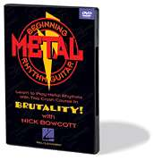 Beginning Metal Rhythm Guitar Lessons Learn to Play DVD