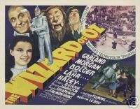 THE WIZARD OF OZ MOVIE POSTER Judy Garland VINTAGE 1
