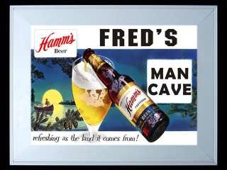 Freds Hamms Beer Man Cave Slim Led Light Sign New