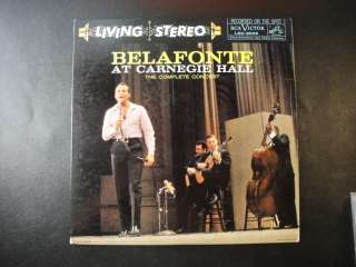 BELAFONTE at Carnegie Hall LSO 6006 Original 2LP