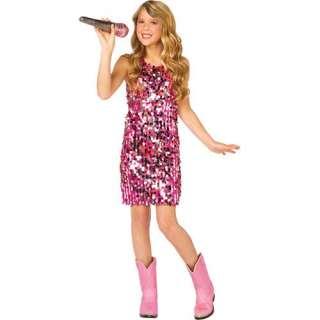 Pink Sequin Dress Girl Costume Pop Star Singer Diva Child