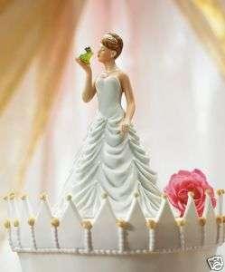 Princess Bride Kissing Frog Prince Figurine Cake Topper
