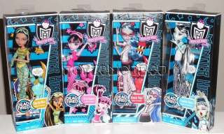 Monster High Dead Tired Ghoulia Frankie Cleo Draculaura
