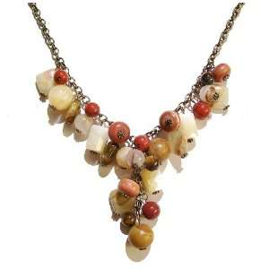 The Black Cat Jewellery Store Mixed Gemstone Brass Chain