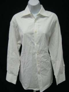 BERGDORF GOODMAN Mens White Dress Shirt Sz 39