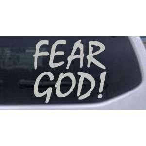 Fear God Christian Car Window Wall Laptop Decal Sticker    Silver 12in