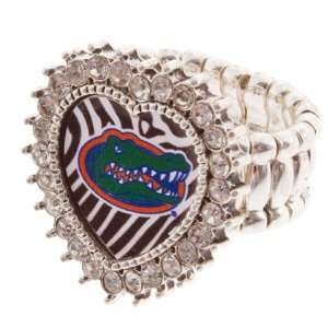 Bling Bling, Collegiate Jewely, Silver Toned Stretch Band