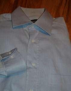HUGO BOSS BLUE DRESS SHIRT 15 34