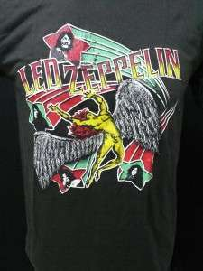 Led Zeppelin rock band tour 1975 mens t shirt szS