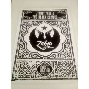 Jimmy Page Black Crowes Excess All Areas Tour Book