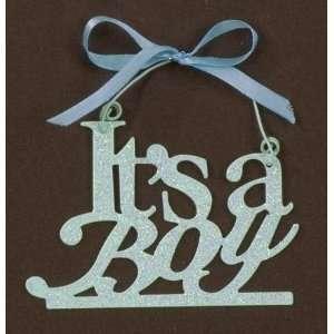 Its a Boy Blue Tin Word Art Sparkle Babys Room Decor
