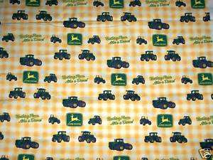 JOHN DEERE FABRIC green & yellow John deere TRACTOR FABRIC by the yard