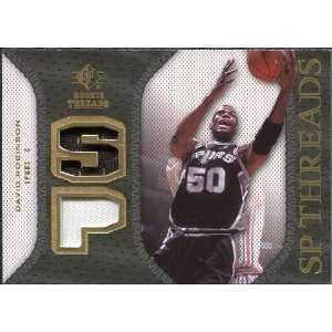 Deck SP Rookie Threads Patch #SPDR David Robinson: Sports Collectibles