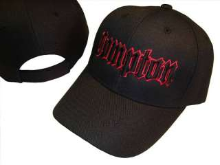 Black & Red Compton Baseball Cap Caps Hat Hats LA EZ OG