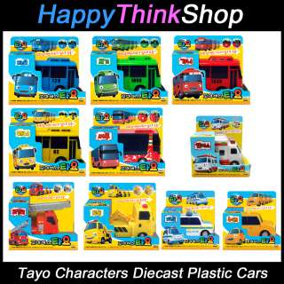 The Little Bus TAYO & Friends Main Diecast Plastic Cars   Choose Model