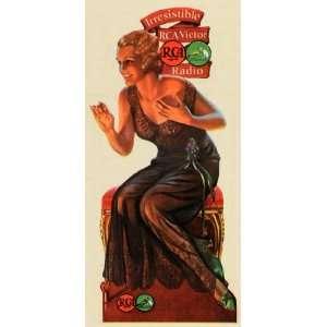 1932 Print RCA Victor Radio Woman Corporation America Radiola Art Dog