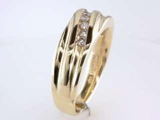 Genuine Diamond .35ct 14K Yellow Gold Mens Engagement Wedding Ring