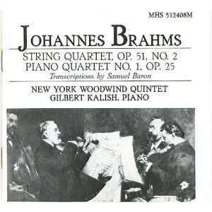 Brahms String Quartet; Piano Quartet (Transcriptions