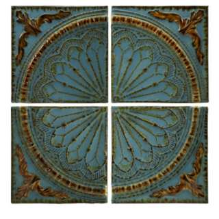 FRENCH COUNTRY BLUE QUARTER MEDALLION METAL WALL PANELS