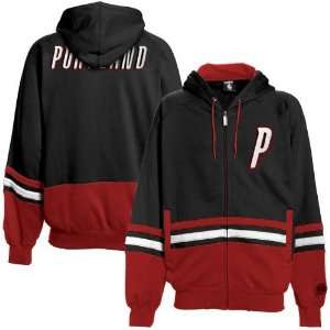 Portland Trail Blazers Black Red Chaunce Full Zip Hoody