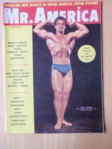 MR AMERICA bodybuilding muscle mag/RON COVINO 12 60