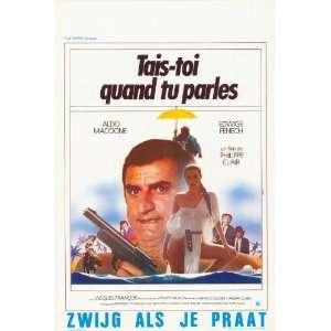 Tais toi quand tu parles Poster Belgian 27x40 Aldo Maccione Edwige