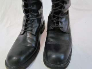Womens Black Leather Charles David Lace Up Knee High Boots 8.5