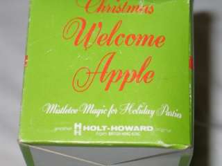 Vintage Holt Howard Christmas Welcome Apple Mistletoe IOB T16