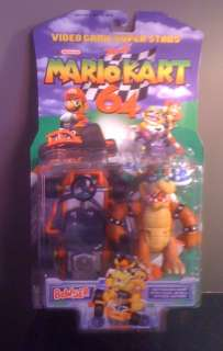 MARIO KART 64 BOWSER FIGURE SUPER MIB RARE 1999 TOY BIZ