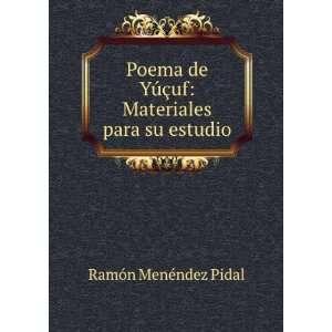 §uf Materiales para su estudio Ramón Menéndez Pidal Books