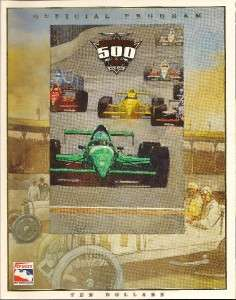 1999 Indianapolis 500 Program Kenny Brack A.J. Foyt