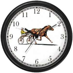 Sulky Horse or Standardbred Racehorse Horse Wall Clock by
