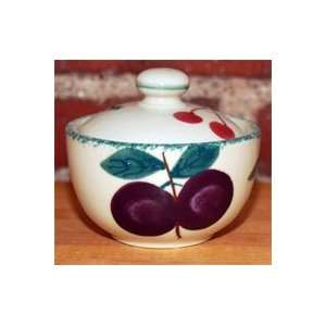 FRUIT SALAD COVERED SUGAR BOWL WITH LID