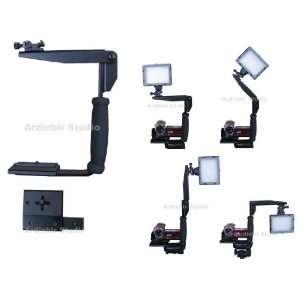 Ardinbir Led Light Quick Rotating Tilt Flip Bracket for Canon, Sony