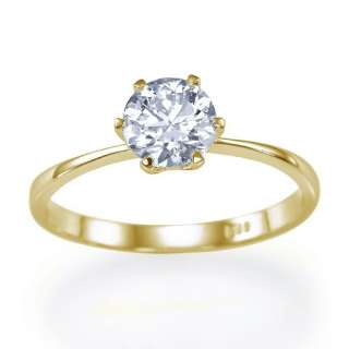03 carat G/SI2 6 Prong Solitaire Round Diamond Engagement Ring by