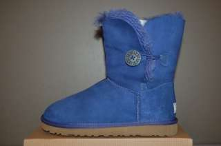 UGG Australia Bailey Button Deep Cobalt US Size 5 Womens Boots