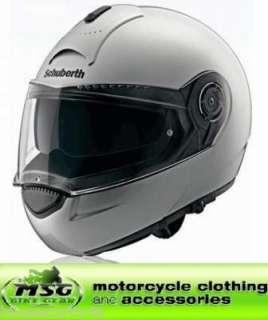 SCHUBERTH C3 FLIP FRONT MOTORCYCLE CRASH HELMET SILVER XXL